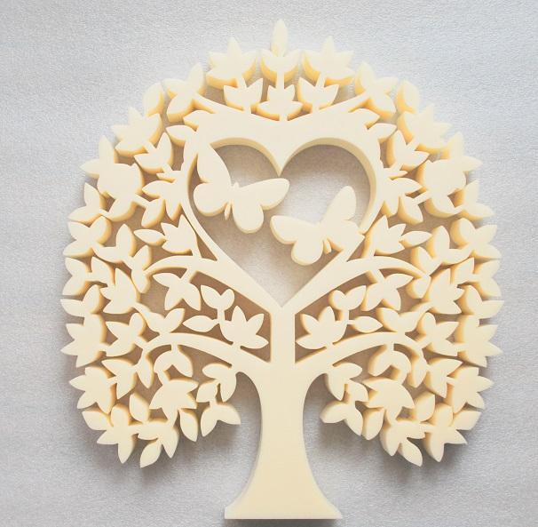 Laser Cut Heart Tree With Butterflies Tree Of Love Free Vector