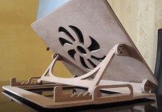 Laser Cut Adjustable Folding Laptop Table Free Vector