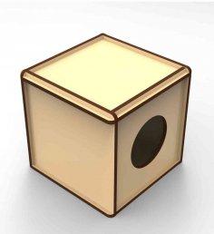 Laser Cut Rabbit Box Free Vector