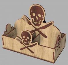 Laser Cut Pirate Napkin Holder Free Vector