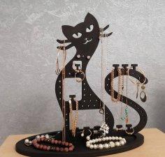 Laser Cut Cat Jewelry Organizer Jewelry Holder Stand Free Vector