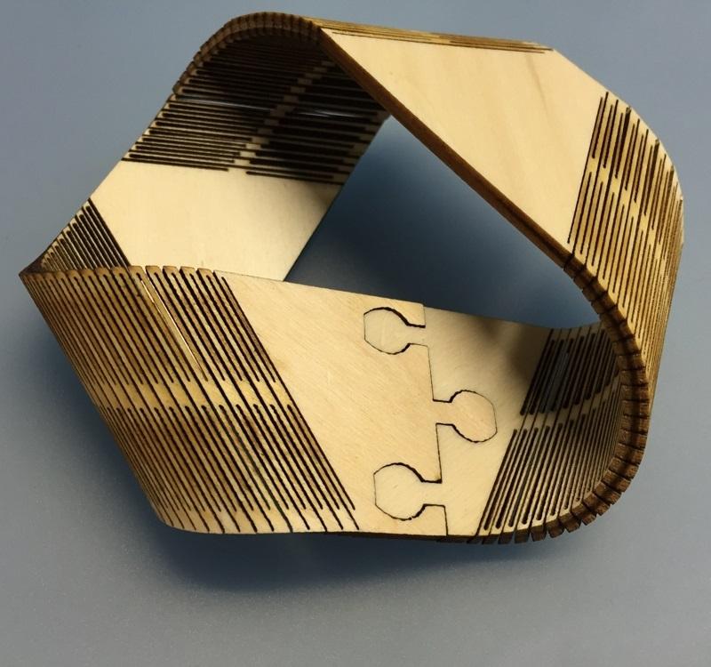 Laser Cut Moebius Strip 3mm Birch Plywood DXF File