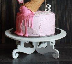 Laser Cut Decor Wedding Cake Stands Free Vector