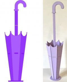 Laser Cut Umbrella Planter Flower Stand Home Decor Free Vector