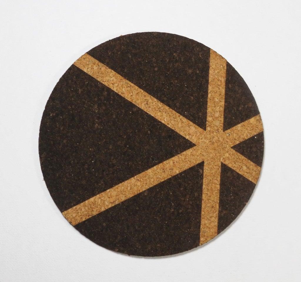 Laser Cut Cork Coasters 3mm SVG File