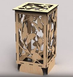 Laser Cut Decorative Butterfly Lamp Free Vector