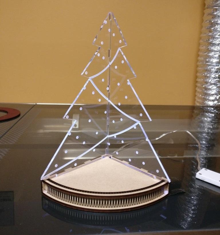 Laser Cut Acrylic Lamp Base 3mm  SVG File