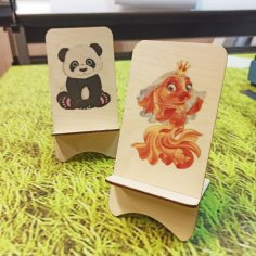 Laser Cut Wooden Phone Stand DXF File