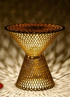 Table Lamp Laser Cut Free Vector
