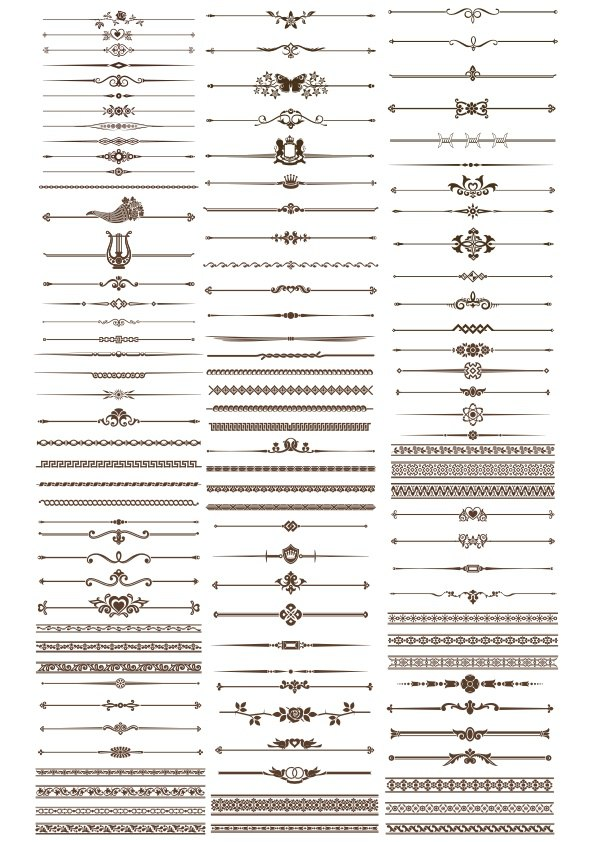 Decorative Elements Border and Page Rules Vectors Free Vector
