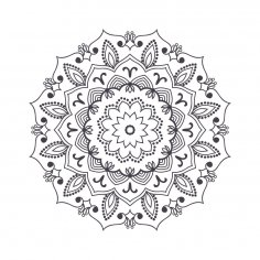 Mandala For Coloring 4 Free Vector