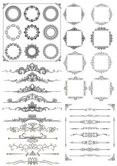 Border Decor Element Set Free Vector