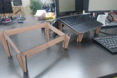 Laser Cut Wooden Laptop Stand Free Vector