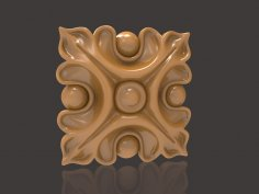 Easy Decorative Wood Carving Pattern For CNC Router Stl File