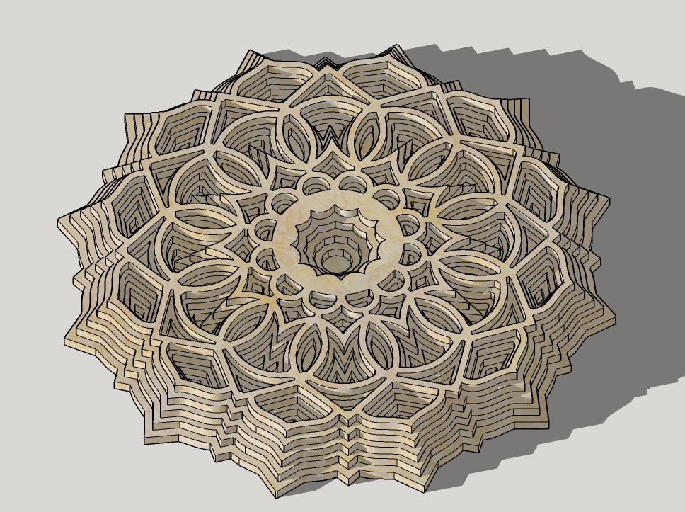Laser Cut Multilayer Decor Template Free Vector