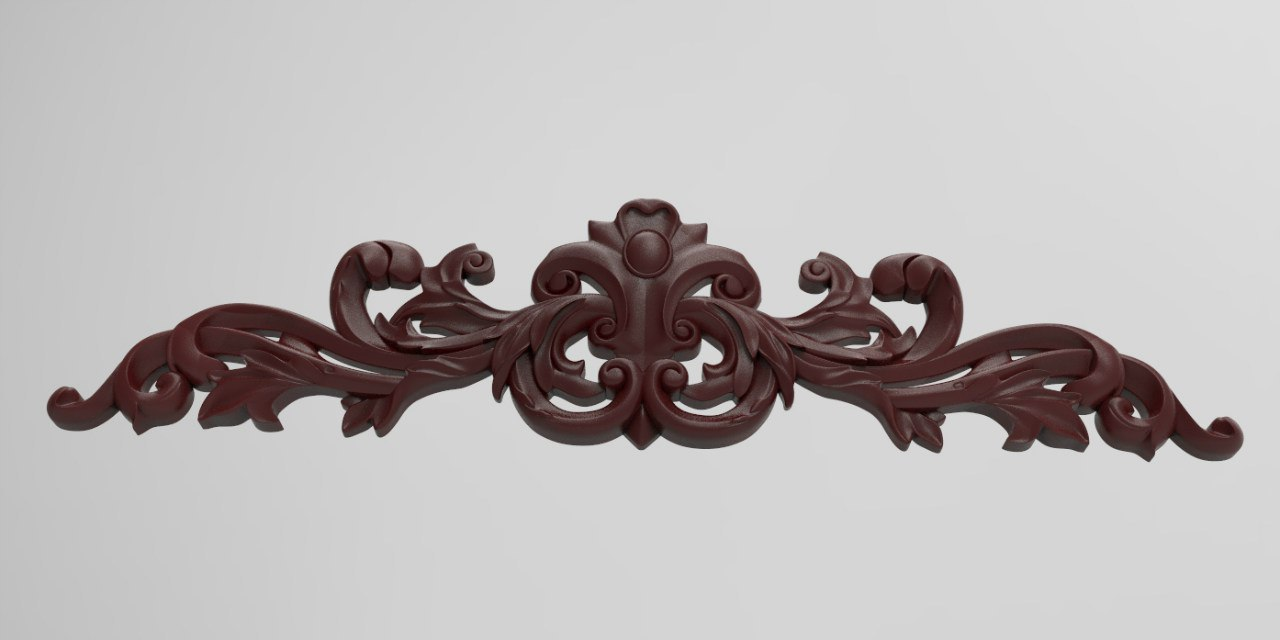 CNC Carved Wood Onlay for CNC Router Engraver Stl File