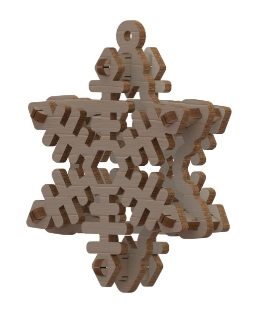 Laser Cut Snowflake Free Vector