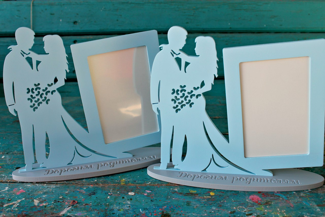 Laser Cut Couple Picture Frame Free Vector
