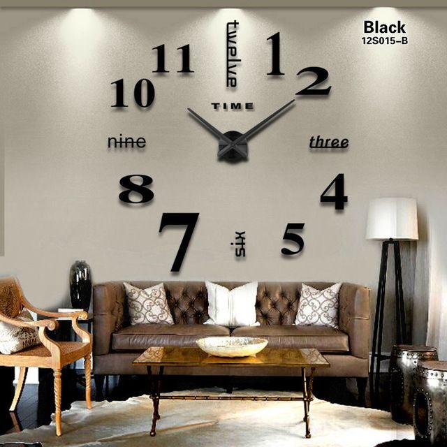 Laser Cut Contemporary Living Room Wall Clock Free Vector