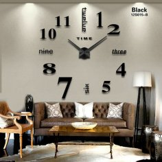 Laser Cut Contemporary Living Room Wall Clock Free Vector