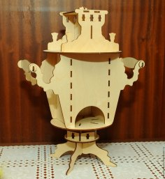 Laser Cut Tea House Samovar DXF File