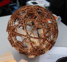 Laser Cut Wooden Decorative Sphere Free Vector