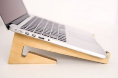Laser Cut Wooden Laptop Stand for Desk Free Vector