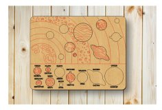 Laser Cut Solar System Puzzle For Kids Free Vector