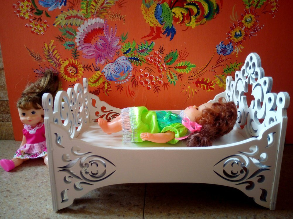 Baby Doll Cradle Or Crib Laser Cut CNC Template PDF File