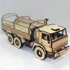 Laser Cut Kamaz Truck Free Vector
