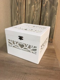 Laser Cut Wedding Box Free Vector