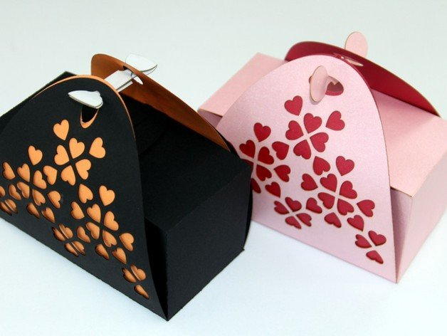Laser Cut Valentines Day Gift Box Template Free Vector