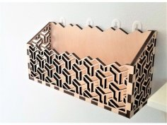 Letter Holder, Mail Holder Laser Cut Template DWG File