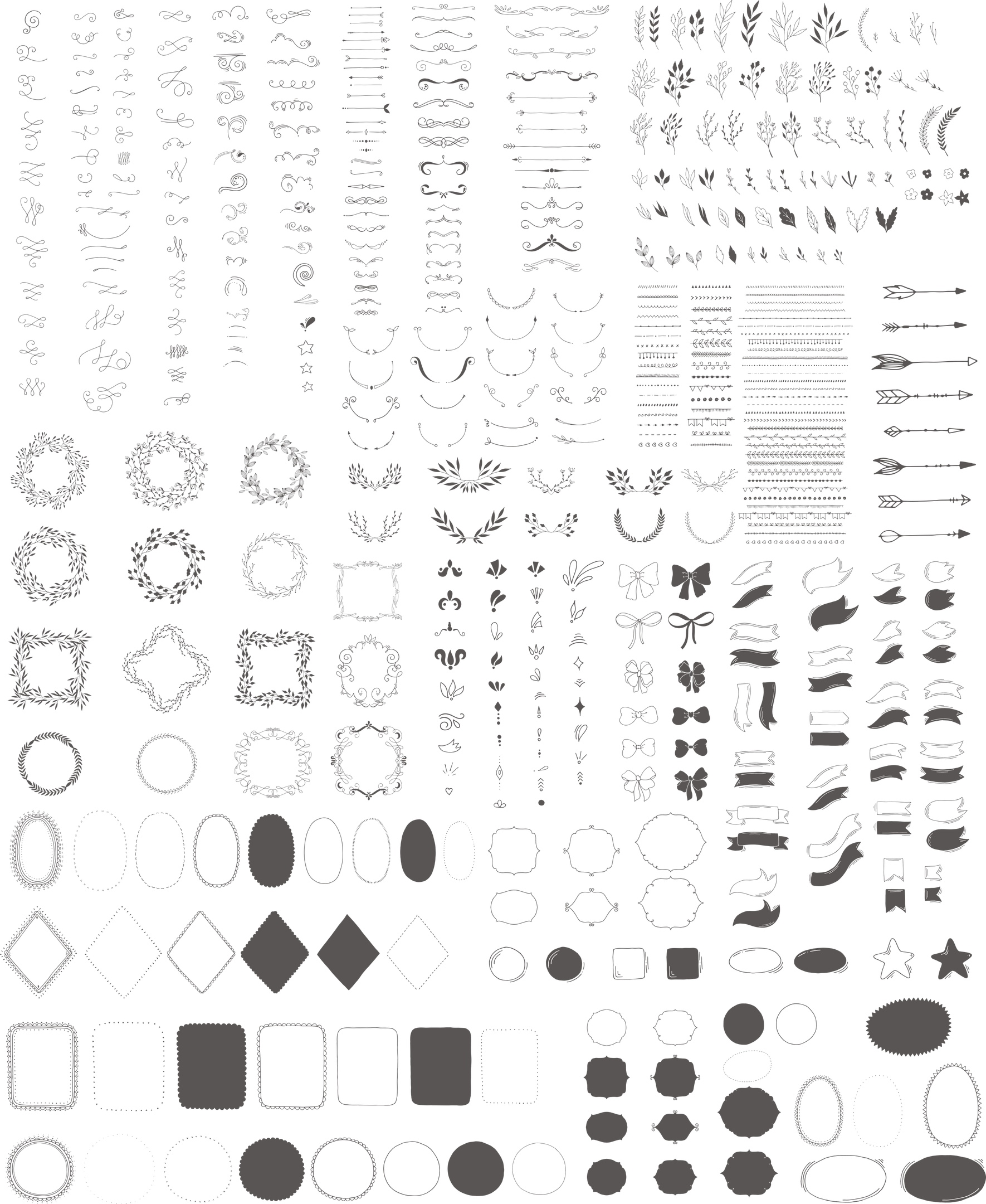 Decoration Toolkit Pack Free Vector