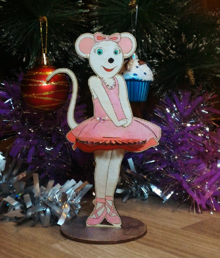 Laser Cut Mouse Ballerina Napkin Holder Free Vector
