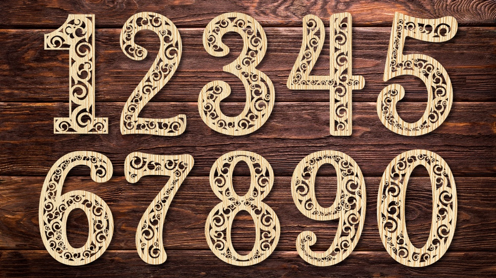 Laser Cut Decorative Number Cutting Template Free Vector