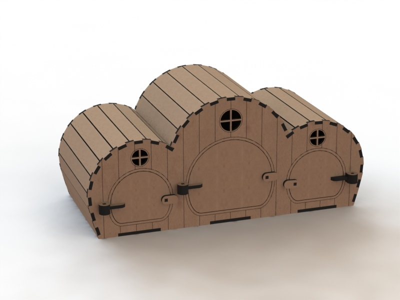 Laser Cut Wooden House Toy For Children 3d Template Free Vector