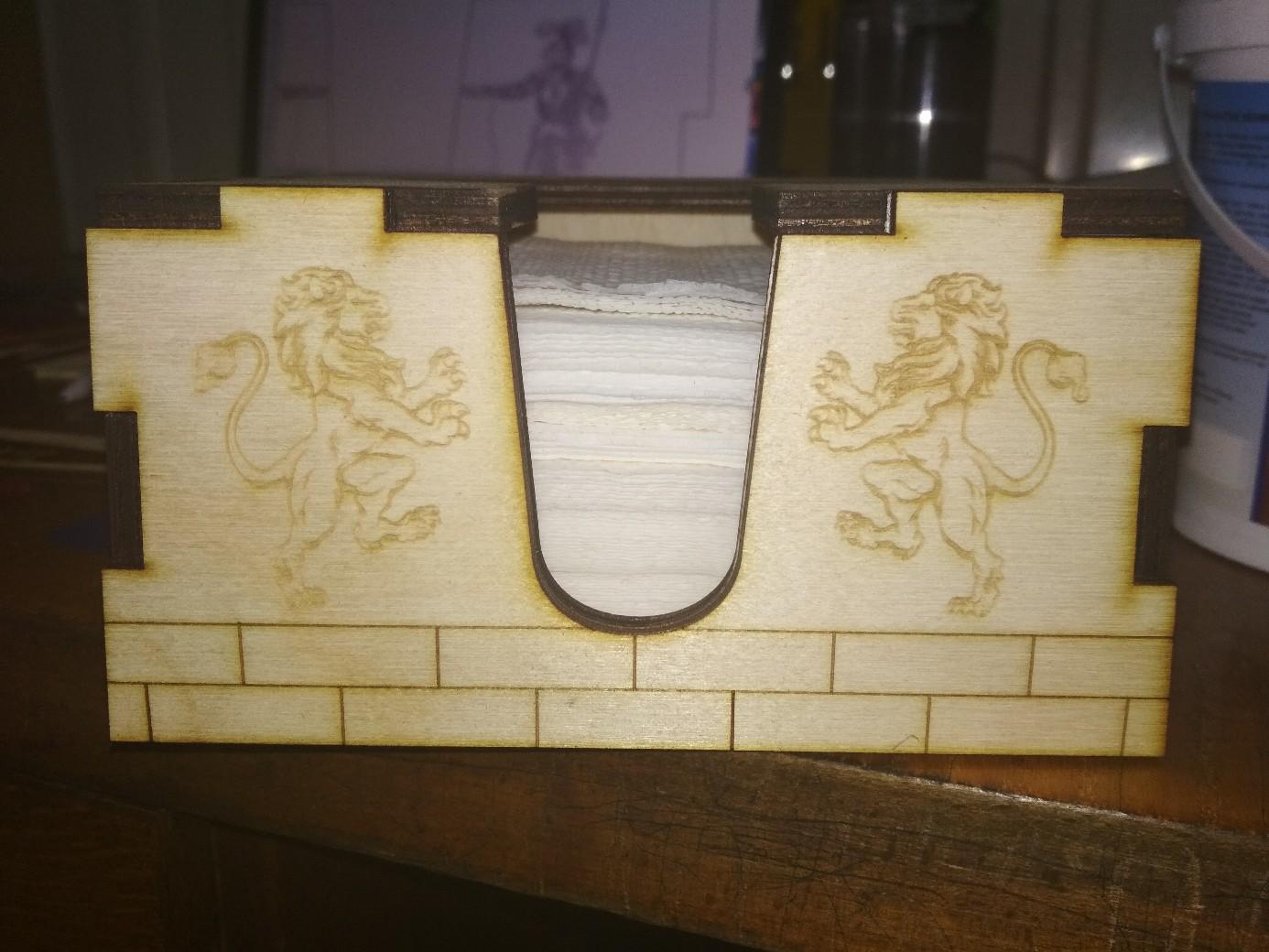 Laser Cut Square Napkin Holder Box Free Vector