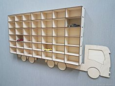 Laser Cut Hot Wheels Toy Car Storage Display Shelf Free Vector