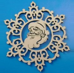 Laser Cut Santa Claus Christmas Ornament Free Vector