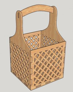Laser Cut Decorative Flower Box Candy Basket Free Vector