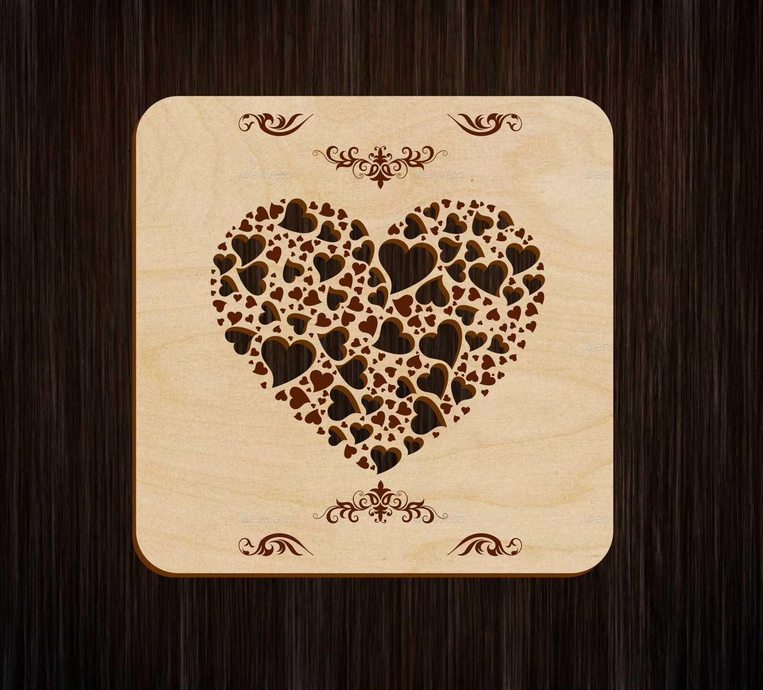 Laser Cut Engrave Heart Book Cover Free Vector
