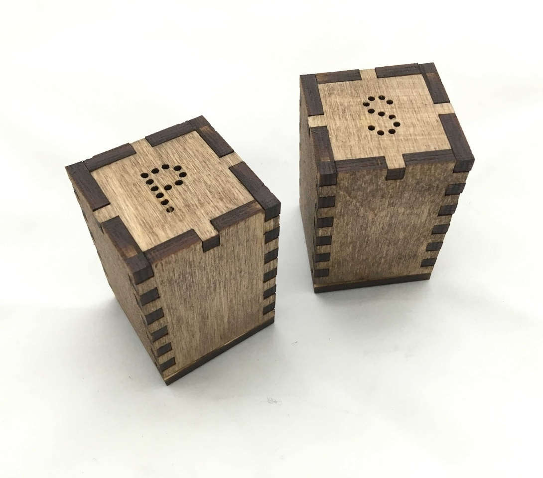 Laser Cut Wooden Salt And Pepper Shakers 4mm Free Vector