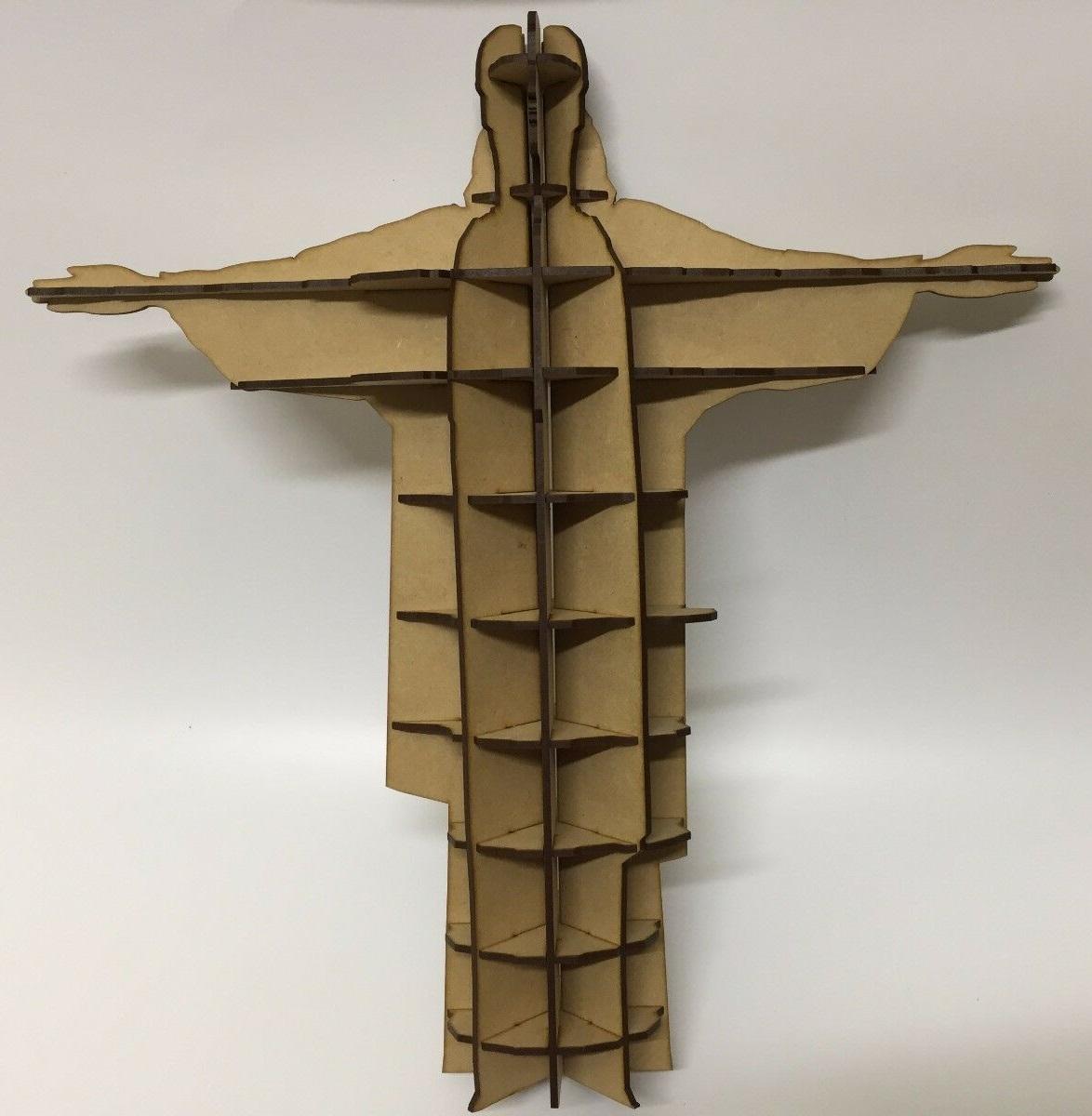 Laser Cut Christ The Redeemer 3D Model Free Vector