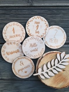 Laser Cut Engraved Wood Medallions Free Vector