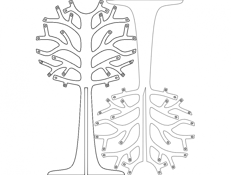 Arvoresdenatal (Christmas trees) dxf File
