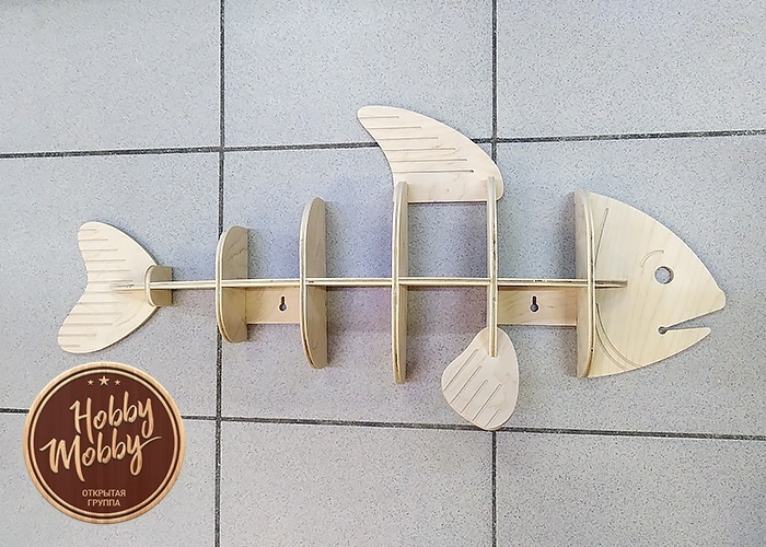 Polka Ryba Fish Shelf Free Vector