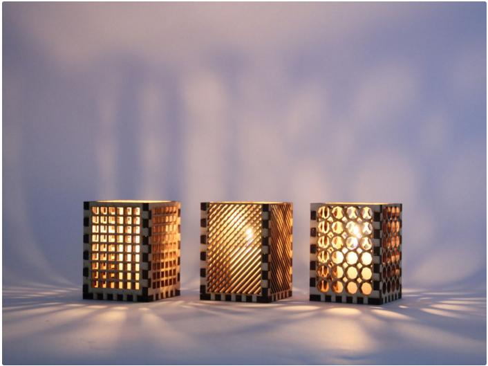 Laser Cut Candle Holder Free Vector