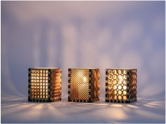 Laser Cut Candle Holder CDR File