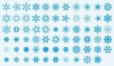Snowflakes Vector Art Collection Free Vector